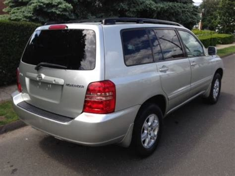 2003 Toyota Highlander V6 Find Used 2003 Toyota Highlander V6 4wd Silver 165k In Stratford Connecticut United