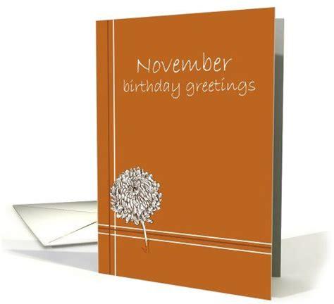 November Birthday Cards Happy November Birthday Greetings Chrysanthemum Flower
