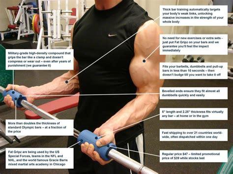 fat grip bench press amazon com fat gripz the ultimate arm builder