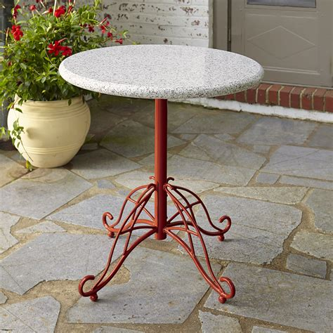 Jaclyn Smith Cherry Valley Granite Bistro Table With Red Smith Patio Table