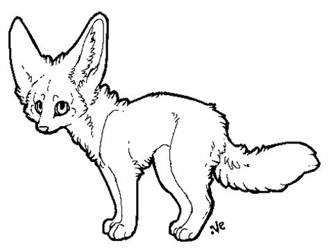 coloring pages fennec fox anime fennec fox coloring pages
