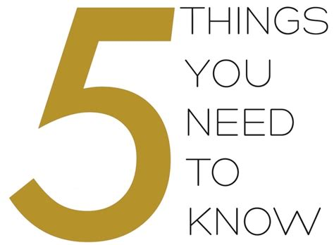5 Things You Need To At The by Top Five Things You Need To The 111 Community