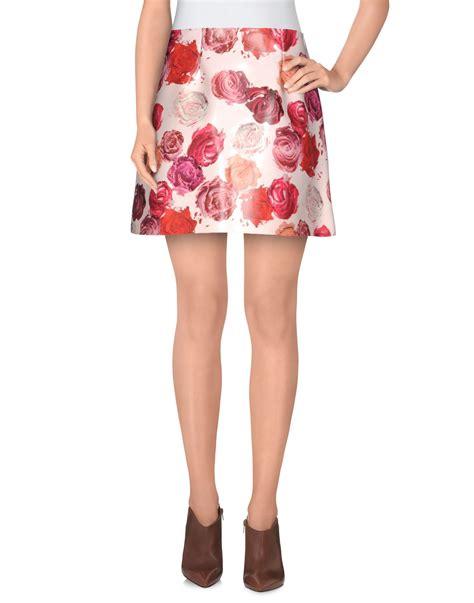 light pink mini skirt msgm mini skirt in pink light pink lyst