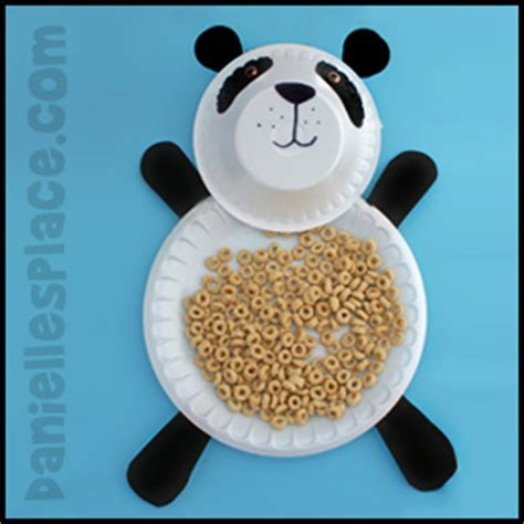 Panda Paper Plate Craft - panda crafts and learning activities for