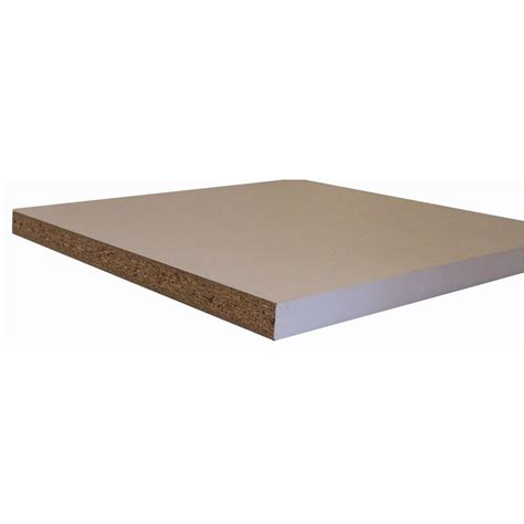 melamine white shelf board common