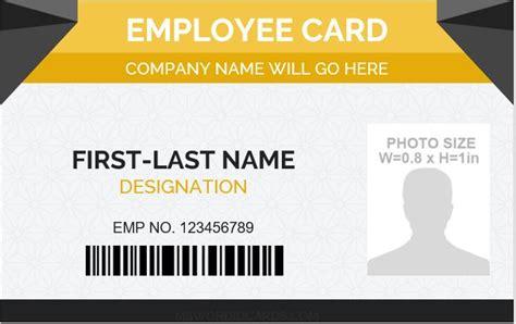 Employee Id Card Template Editable by 5 Best Employee Id Card Format In Word Microsoft Word Id