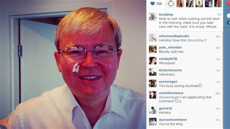 Kevin Rudd Meme - that was awkward as krudd shares his shaving tips on
