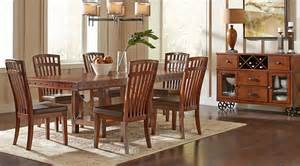 Pecan Wood Furniture Dining Room Hook Pecan 5 Pc Rectangle Dining Room Dining Room Sets Wood