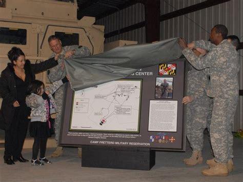 camp fretterd training center dedicated  fallen soldier