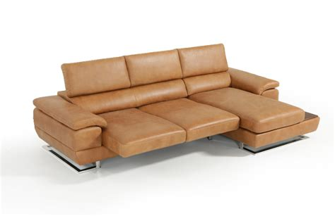 cognac leather sectional estro salotti invictus modern cognac italian leather