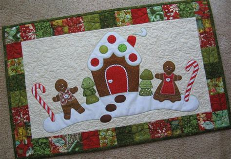 you have to see gingerbread christmas table runner by
