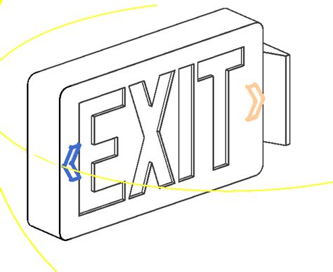 free coloring pages of exit sign