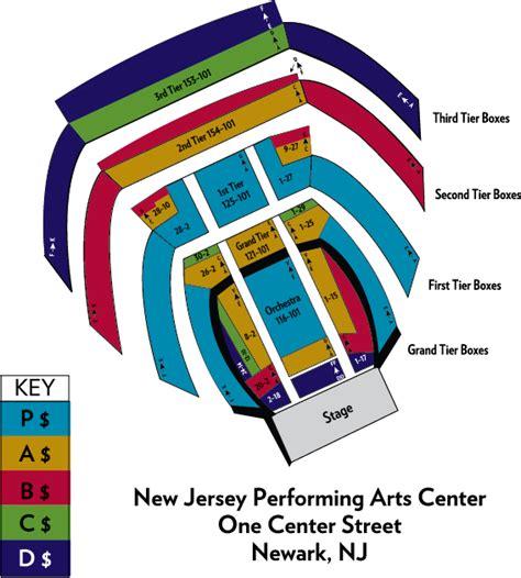 new jersey performing arts center newark nj seating chart