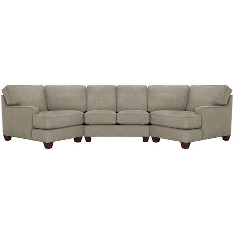 York Upholstery by City Furniture York Pewter Fabric Dual Cuddler Sectional