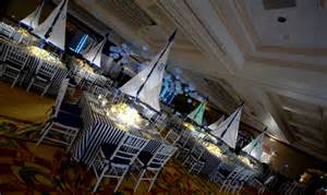 Nautical Themed Table Decorations - nautical theme for a bar mitzvah celebration