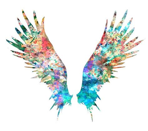 watercolor tattoo wings wings print watercolor painting feather