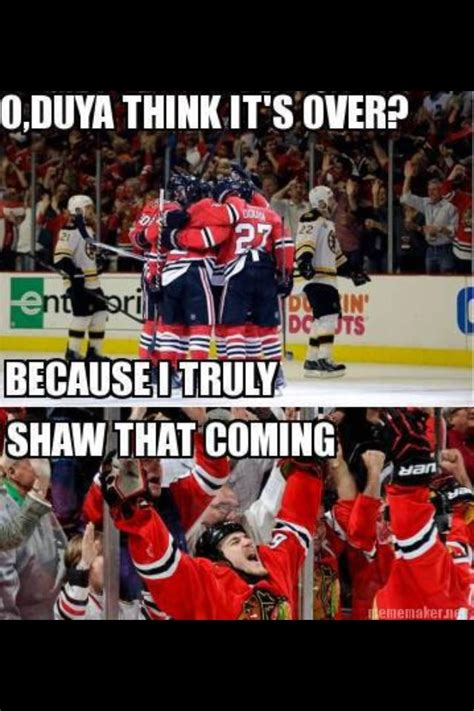 Chicago Blackhawks Memes - puns intended johnny oduya andrew shaw hockey memes