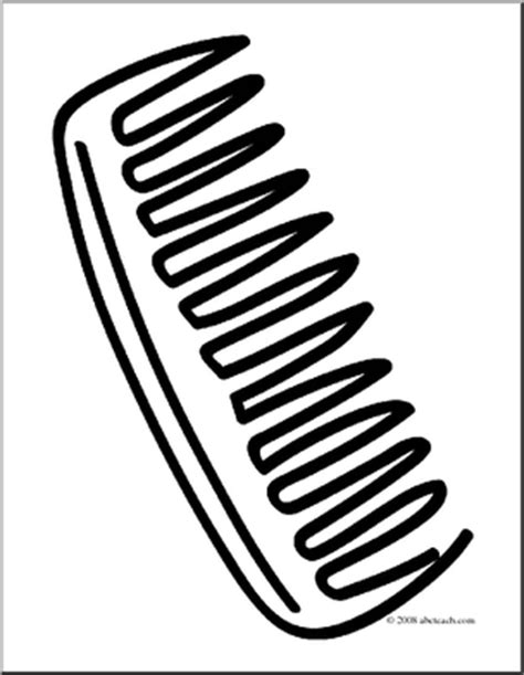 coloring page hair brush hair brush and comb clipart 44
