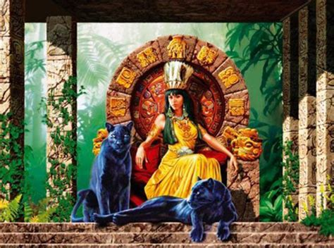 jigsaw puzzle aztec queen 1000 pieces clementoni