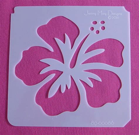 paper stencils crafts hibiscus flower template cliparts co