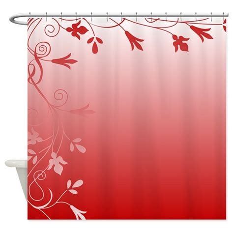 white flower shower curtain red and white floral shower curtain by stolenmomentsph