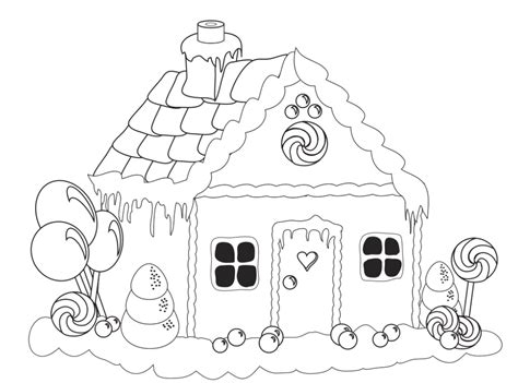 Gingerbread House Coloring Pages For Kids Az Coloring Pages Coloring Pages Gingerbread
