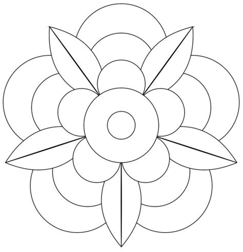 imagenes para dibujar que sean faciles 196 dibujos de mandalas para colorear f 225 ciles y dif 237 ciles
