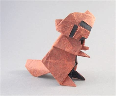 Origami Raccoon - origami raccoon baby noboru 3d make origami easy