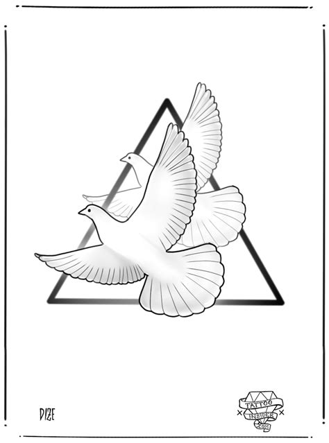 turtle dove tattoo 9 free dove designs insider