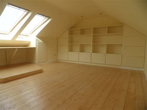 Attic Area by Windows Storage Amp Staircase Killiney Attic Conversion