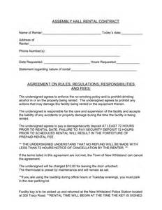 Cancellation Letter For Venue Assembly Hall Rental Contract In Word And Pdf Formats