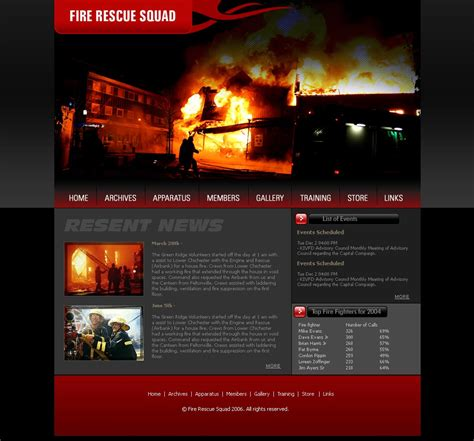 Closed Broadway Volunteer Fire Department Free Website Templates Free Department Website Templates