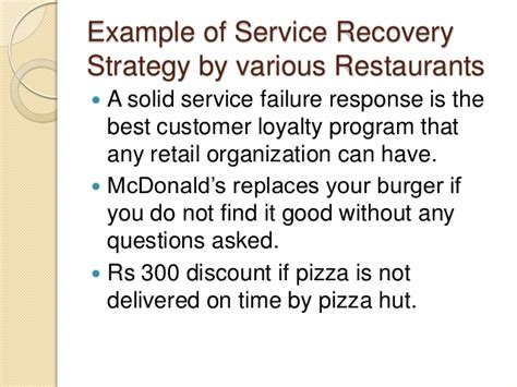 Service Recovery Letter Exles Pizza Hut Service Marketing