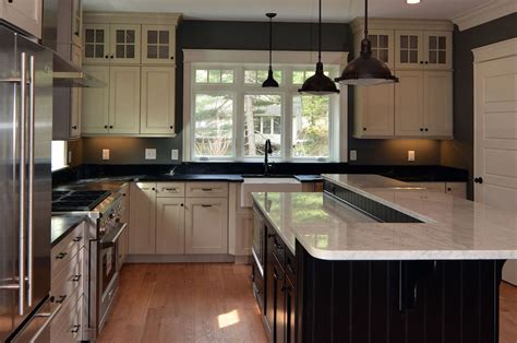transitional style kitchen transitional kitchen by lakeville home builders robert