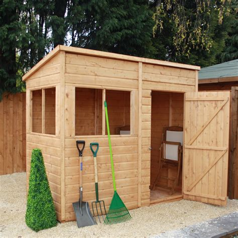 Garden Sheds 8 X 4 by Mercia Garden Products 8 X 4 Wooden Shiplap Pent Storage