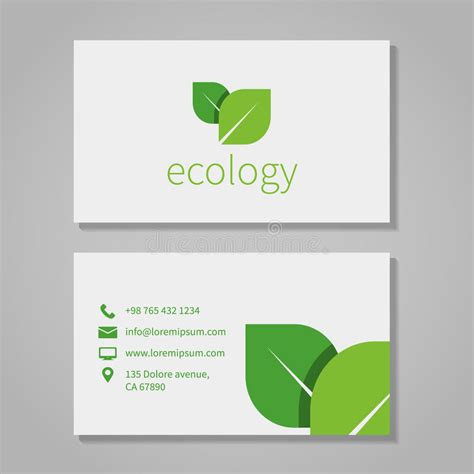 green energy business card template ecological or eco energy company business card stock