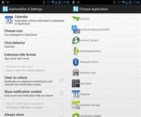 android lock screen notifications better android lock screen notifications with dashclock and dashnotifier hongkiat