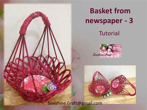 How To Make A Basket Out Of Paper - d i y basket from newspaper 3 tutorial