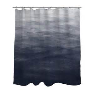 Blue And Grey Shower Curtains Navy Blue Grey Ombre Watercolor Shower Curtain Bath Curtain