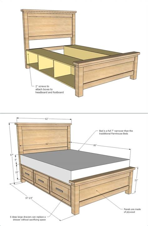 diy bed frame with drawers 25 creative diy bed projects with free plans i creative