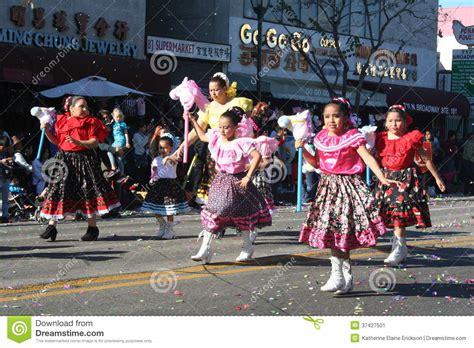 new year parade los angeles 2014 parade dancers editorial photo image 37427501