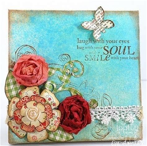 scrapbook canvas tutorial scrapbooking canvas art pinterest fave