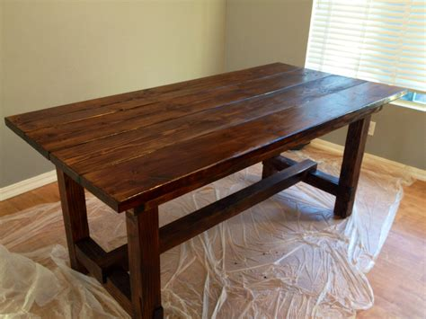 rustic dining room table made by my husband home