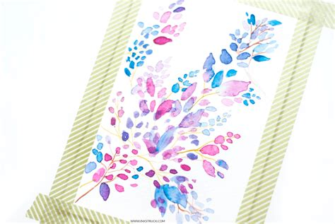watercolor pattern tutorial learn how to create abstract art in this leaf pattern