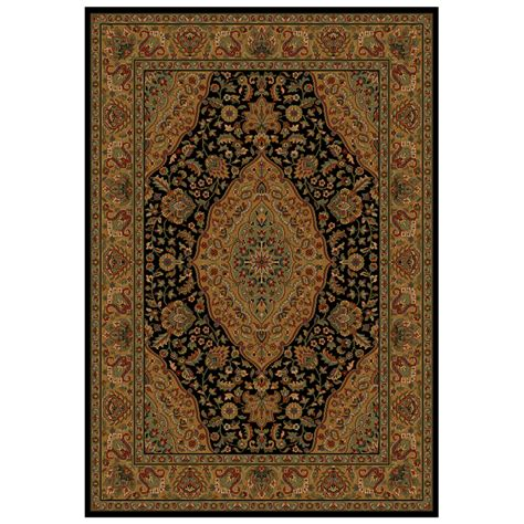 Shaw Living Area Rugs Shop Shaw Living Zanzibar Rectangular Black With Border Area Rug Common 9 Ft X 12 Ft Actual