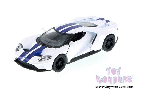 Diecast Car Kinsmart 2017 Ford Gt Stripe White 1 32 New Mib Sni 2017 ford gt top 5391fww 1 38 scale kinsmart