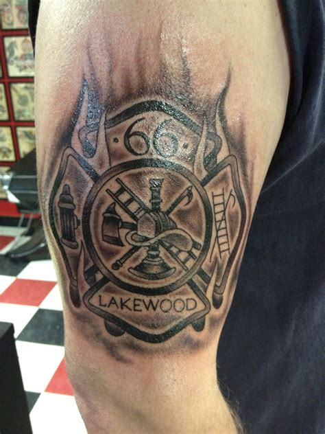 firefighter cross tattoos maltese cross tattoos
