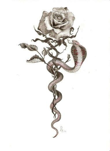 tattoos of snakes and roses snake different snake tho maybe a coral or