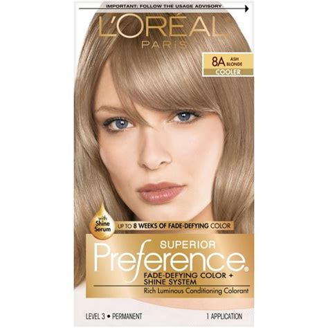 l oreal 174 superior preference fade defying color shine system 8a cooler ash 1