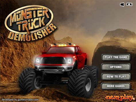 monster trucks games videos monster truck demolisher hacked cheats hacked online games